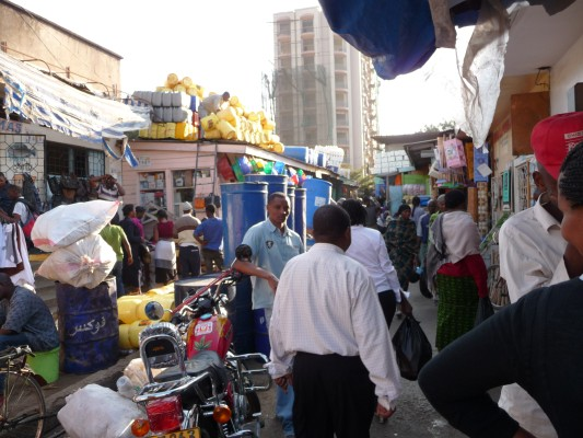 Arusha street and market